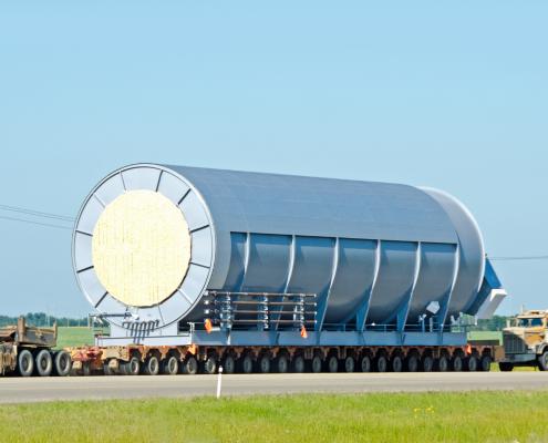 Wide load truck