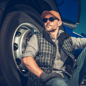 truck driver relaxing